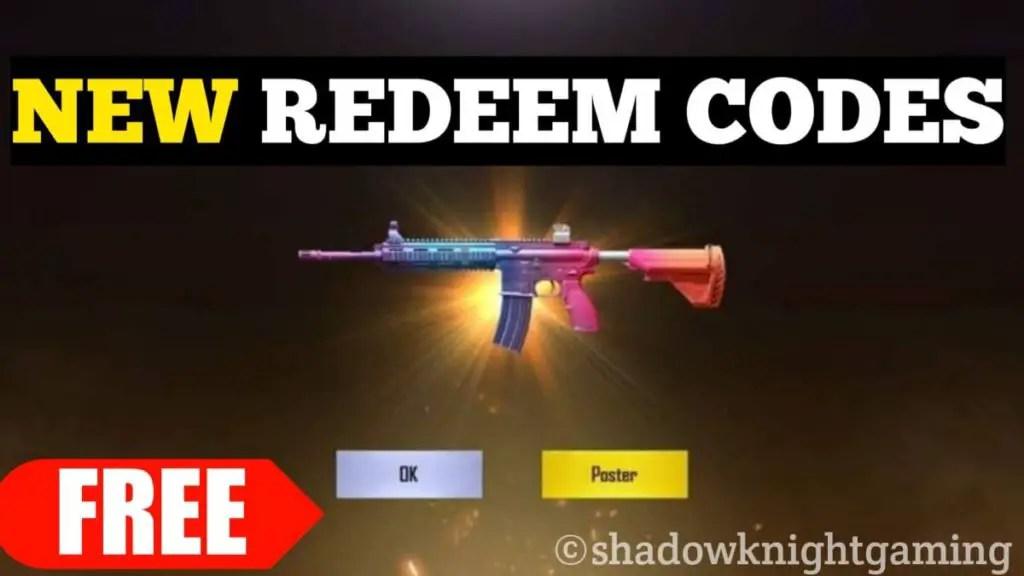 M416 Gun skin Redeem Code PUBG Mobile