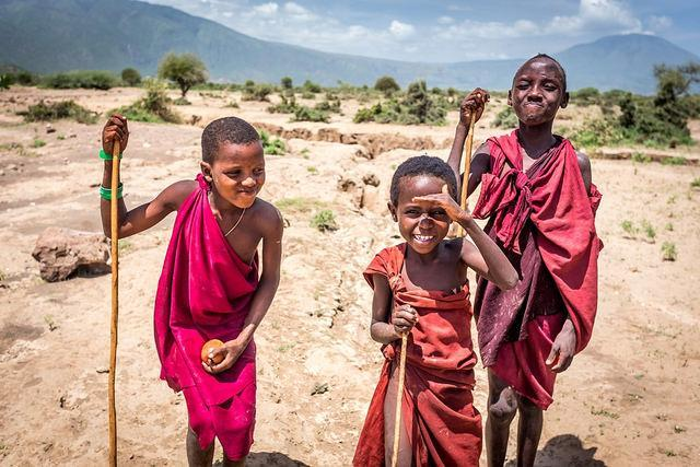 masai children tanzania