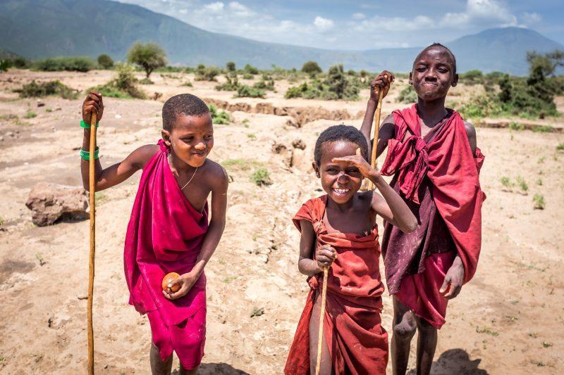 masai kids tanzania