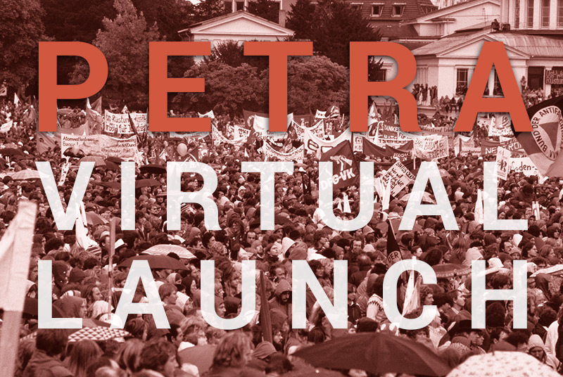 PETRA Virtual Book Launch Event graphic