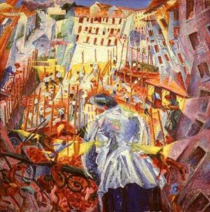 Boccioni_The_Street_Enters_the_House_1911