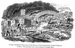 Cruikshank London Going Out of Town 1829