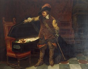 Delaroche_Cromwell_Before_the_Coffin_of_Charles_I_1849