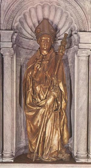 Donatello_St_Louis_Santa_Croce_1413_gilded_bronze