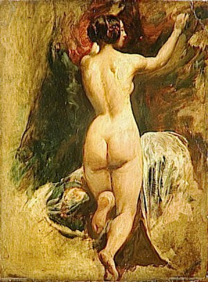 Etty Nude Woman from Behind