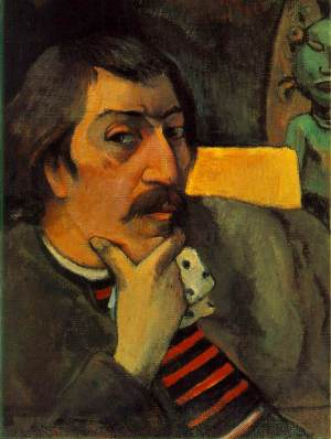 Gauguin_Portrait_of_the_Artist_with_the_Idol_c1893