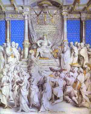 Holbein Solomon Receiving the Homage of the Queen_of_Sheba_c1535