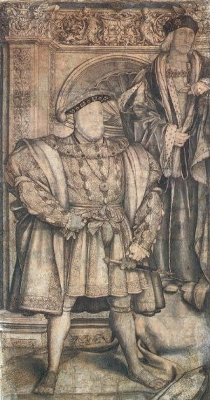 Holbein Whitehall mural 1537 cartoon