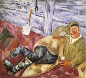Larionov_Soldier_at_Rest_1911