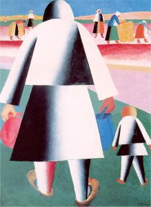 Malevich_To_Harvest_Martha_and_Vanka_1911