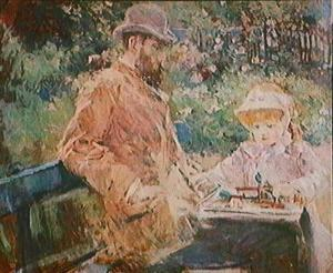 Morisot_Eugene_Manet_and_his_Daughter_at_Bougival_1881