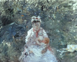 Morisot_The_Wet_Nurse_Angele_with_Julie_Manet_1880