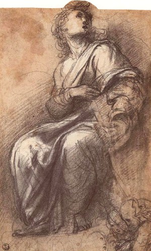 Raphael_Study_for_Disputa