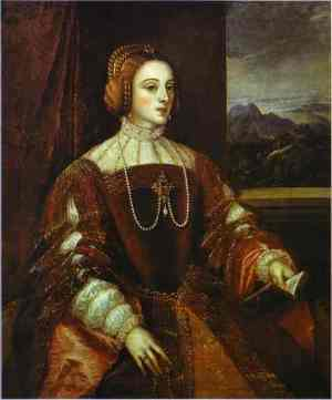 Titian Portrait of Isabella of Portugal 1548