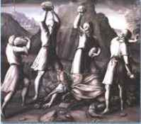 Treviso The Four Evangelists Stoning the Pope