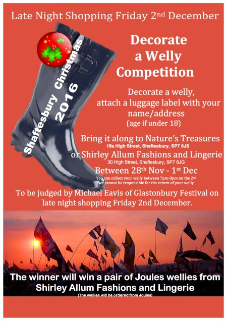 wellie competition poster