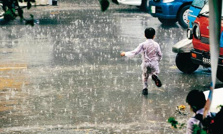 Mohammad Arif Ali's photograph of rain in Lahore. Photograph: White Star, Karachi/Whitechapel gallery