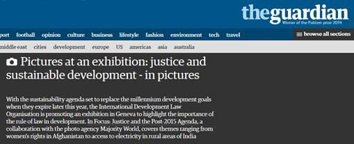 guardian piece on justice in focus