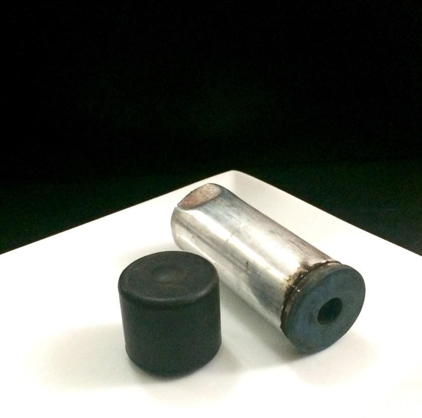 Empty tear gas canister retrieved from Malibagh rail crossing, October 18, 2016. ? Jannatul Mawa.