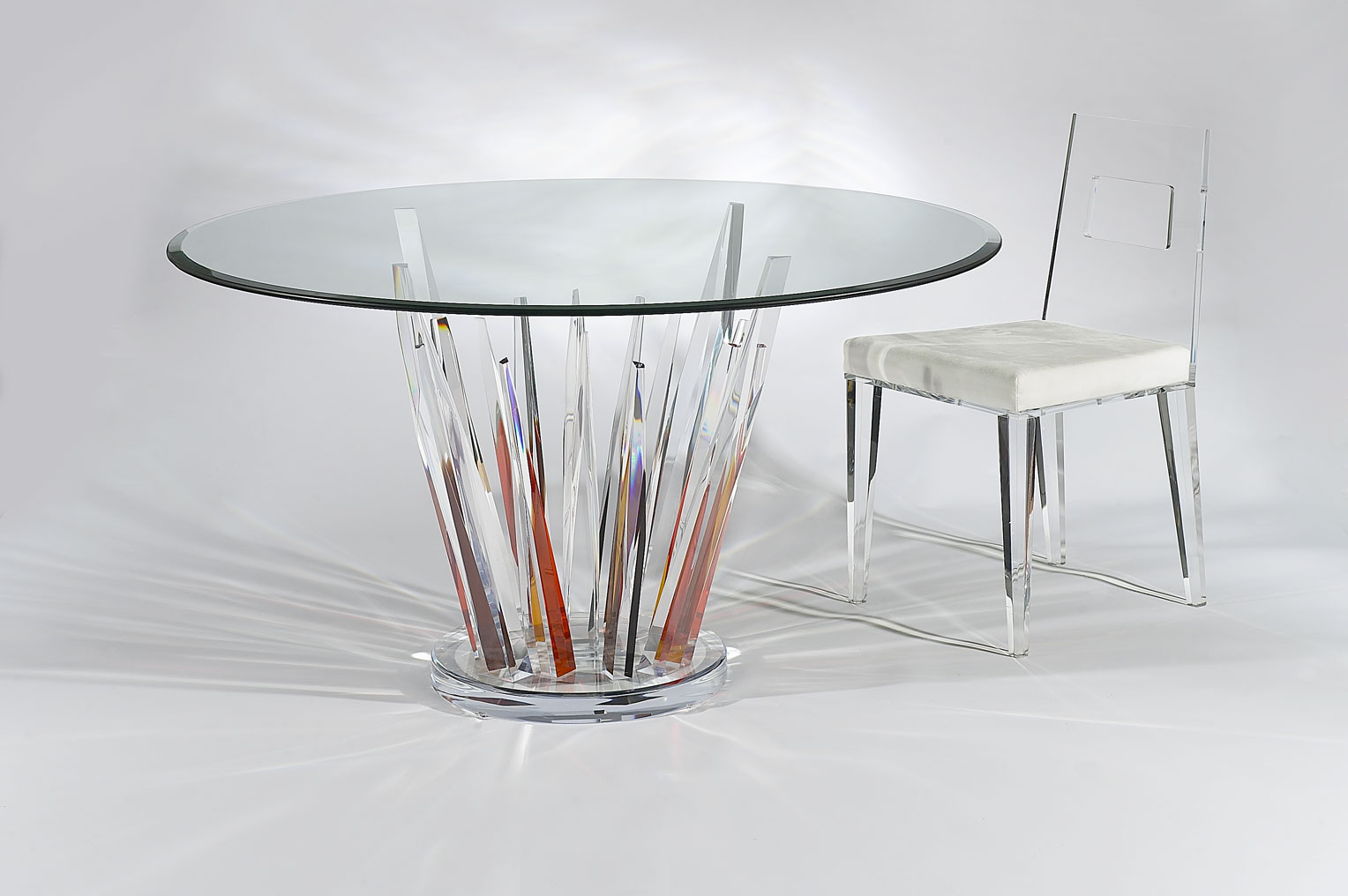 Crystals Colored Dinette Acrylic Dining Chair Acrylic