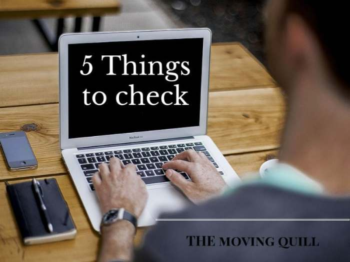 5 Things to check