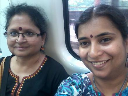 Aboard the Metro