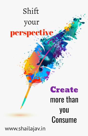 Shifting your perspective as a writer has immense benefits. When you create more content than you consume, a strange awakening takes place.