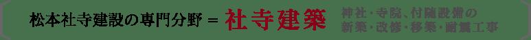 松本社寺建築の専門分野=社寺建築