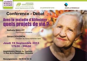 Réalisation d\'une affiche pour France Alzheimer Isère