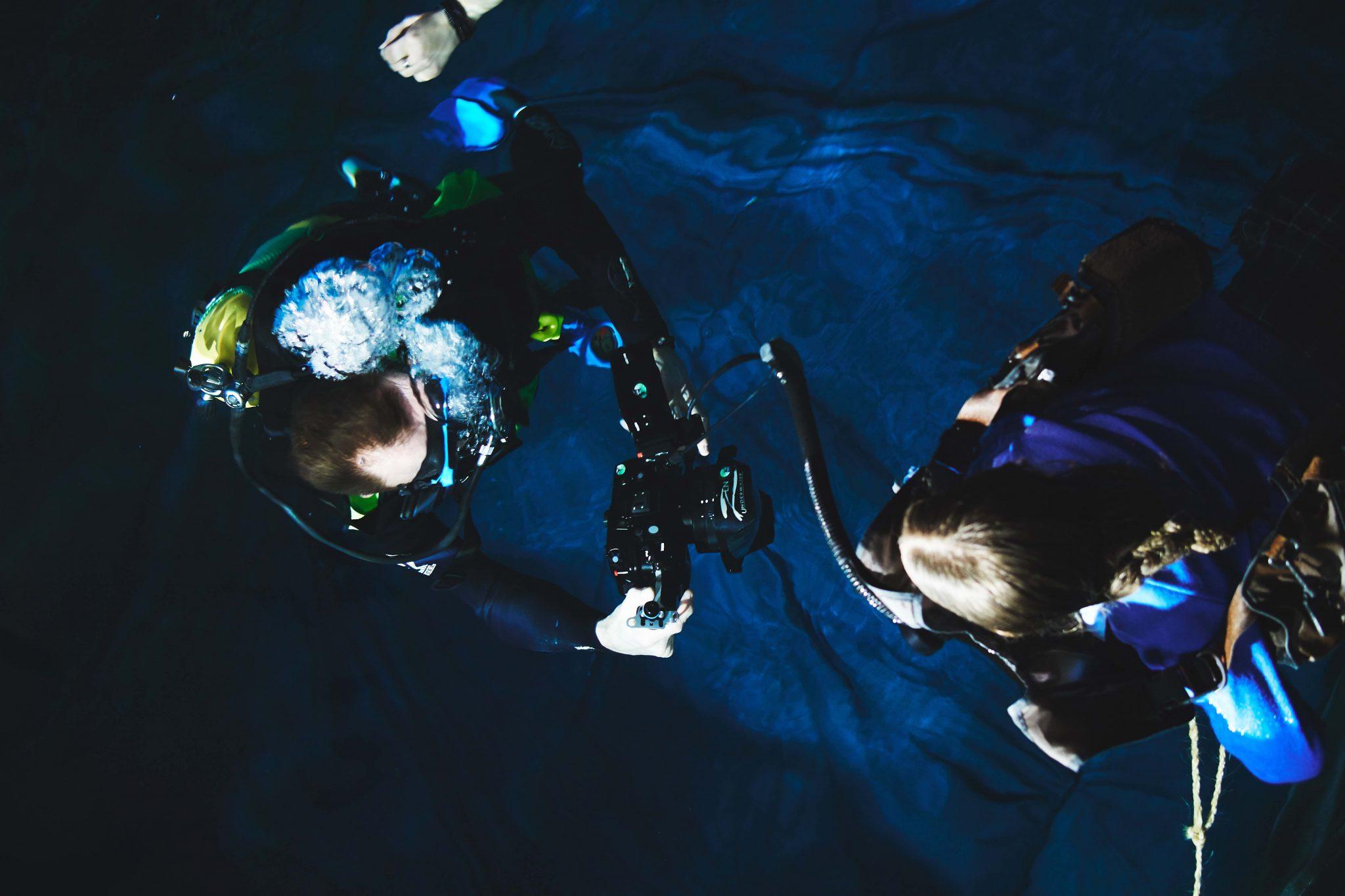 Underwater Shoot Crew Scotland Shakehaus