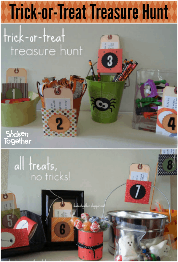 Trick Or Treat Treasure Hunt Halloween Scavenger Hunt