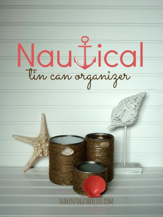Tin can organizer
