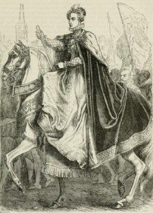 Queen Elizabeth entering London. From Cassell's History of England, Vol.2