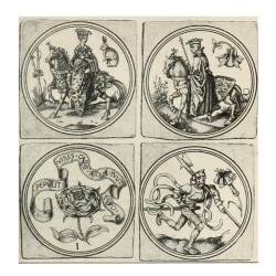 Elizabethan playing cards. From Strutt's 'Sports and Pastimes'