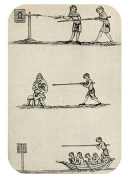The Quintain. From Strutt's 'Sports and Pastimes'