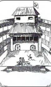 The Interior of the Swan Theatre (Public Domain).
