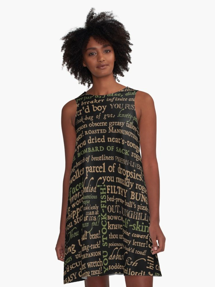 Shakespeare Insults - Revised Edition A-Line Dress