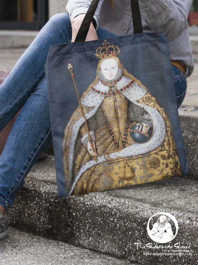 Elizabeth I Coronation Tote Bag