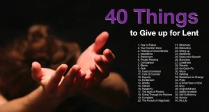 40 Things For Lent Post