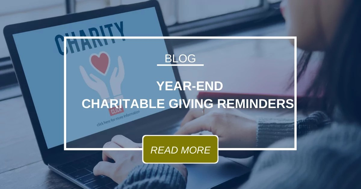 Year End Charitable Giving