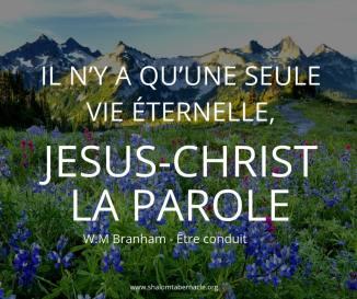 Il n'y a qu'une seule vie éternelle, Jésus-Christ la parole