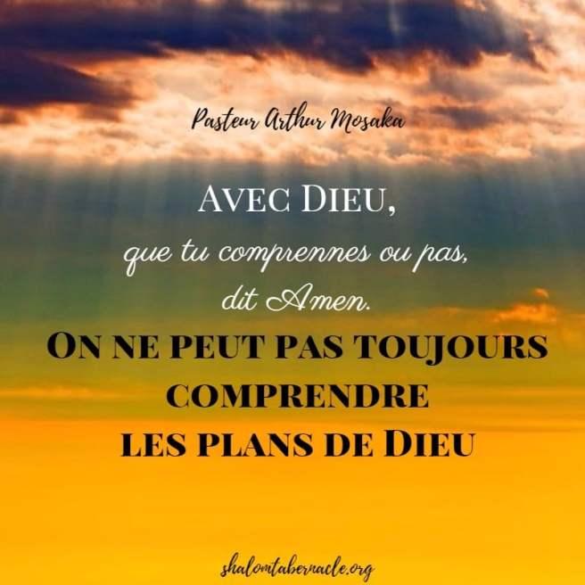 Que tu comprennes ou pas, dit Amen...