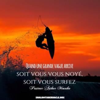 Soit vous vous noyez, soit vous surfez....