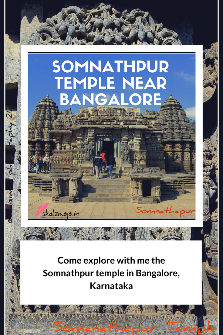 Somnathpur temple near Bangalore in South India rock carvings sculptures deity worship monument ASI tourist travel destination wanderlust historical architecture
