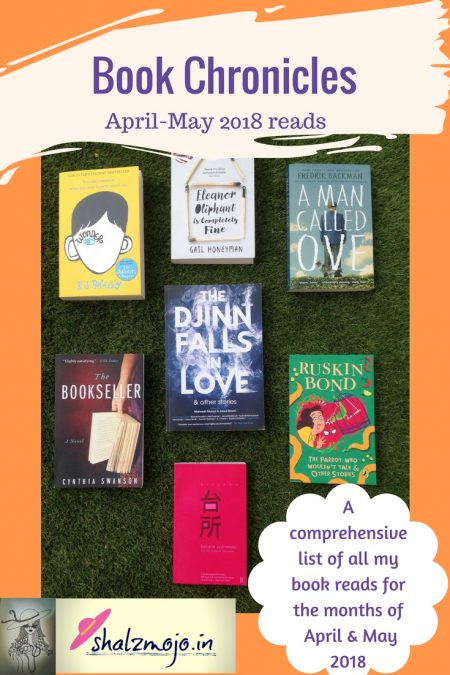book-chronicles-reviews-april-may-2018-books-TBR-reading-genre-fiction