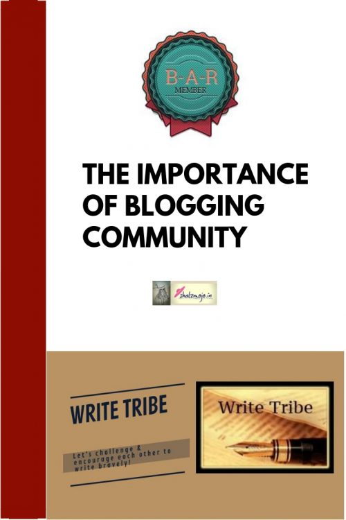blogging community write tribe BAR blog