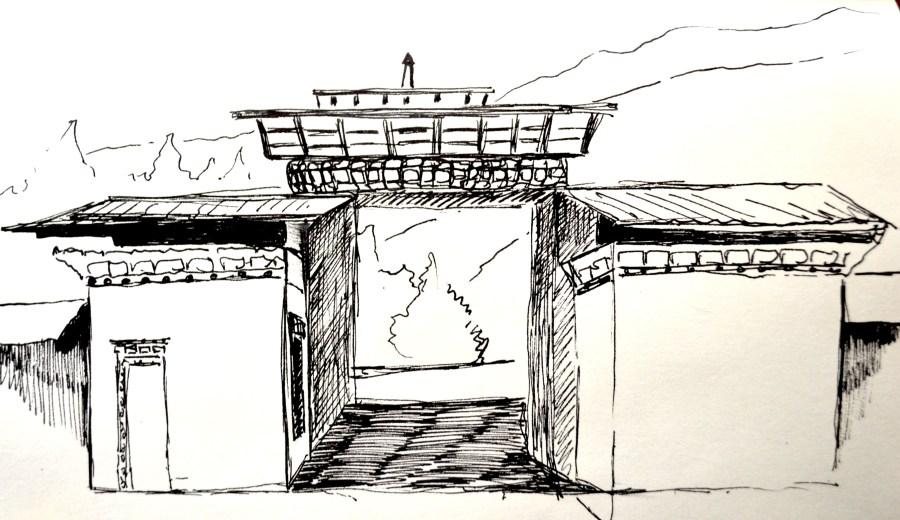 Bhutan-paro-guestpost-december-artist-sketches - travel