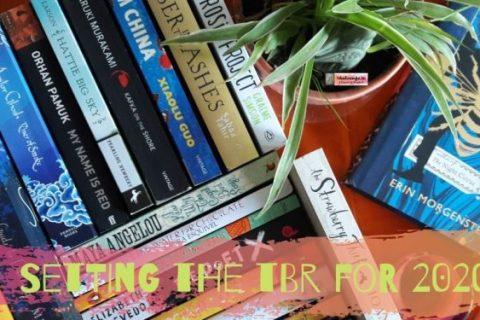 setting the TBR- BOOKS-planter- ceramic tea cup-new books to read