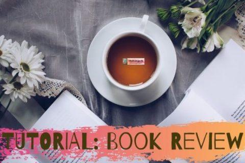 open book-tea cup - leaf - tutorial - books