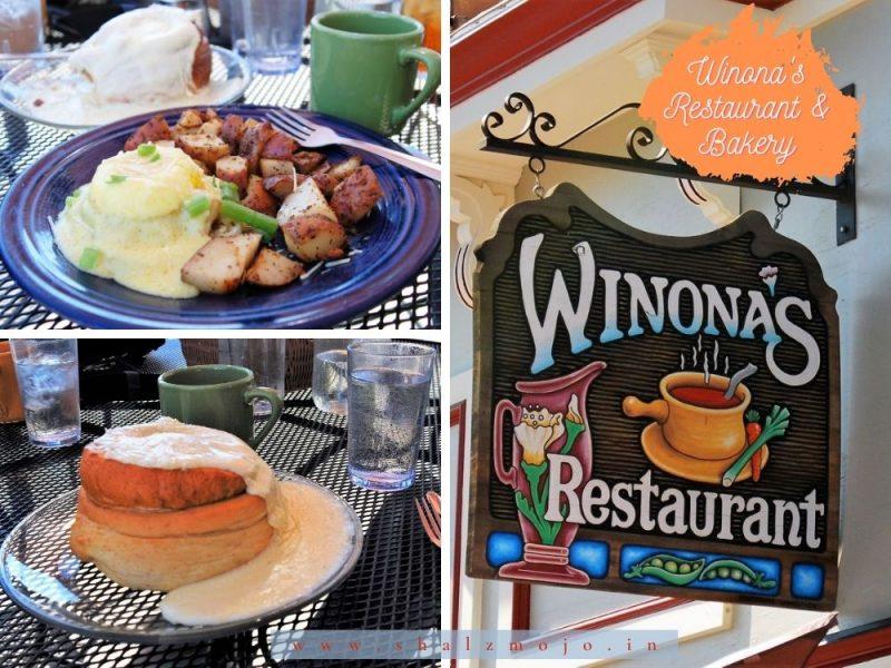 Winona's restaurant- breakfast- brioche - eggs- USA- Colorado